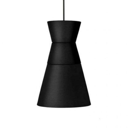 czarna lampa wisząca, nowoczesna
