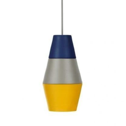 nowoczesna lampa trzy kolory, geometryczna