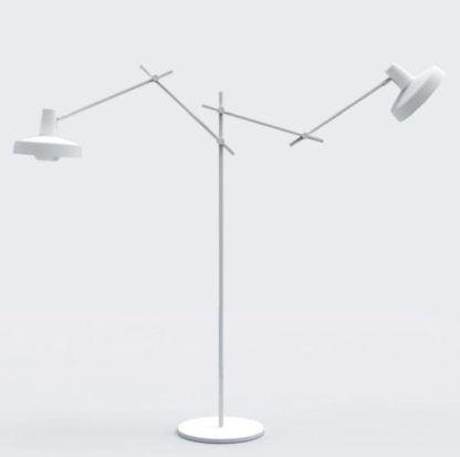 lampa podłogowa scandi, cała biała