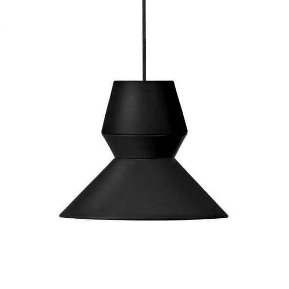 czarna lampa wisząca, nowoczesny design