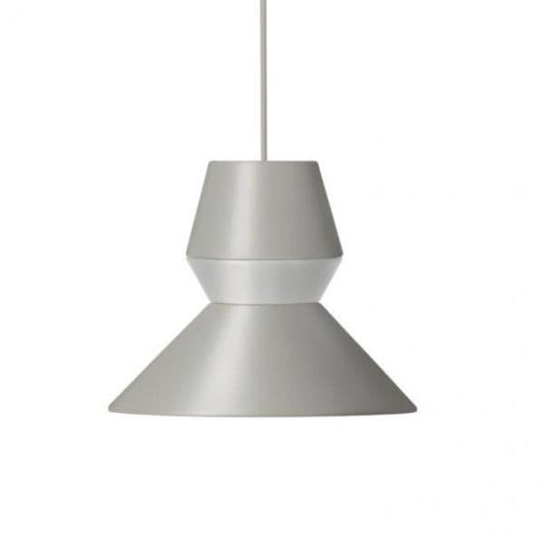 oryginalna, nowoczesna, szara lampa wisząca - aranżacja