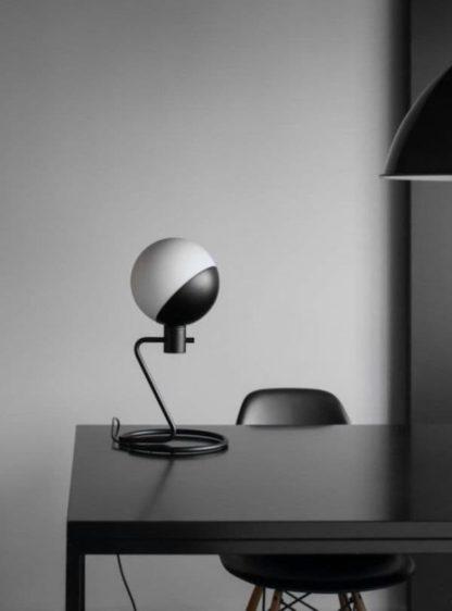 kulista lampa stołowa, nowoczesna, designerska