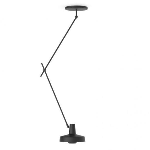 Lampa wisząca z regulacją - Arigato Long - Grupa Products - czarny mat