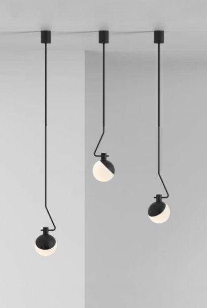 lampa wisząca, styl nowoczesny, regulowany,mały klosz ze szkła