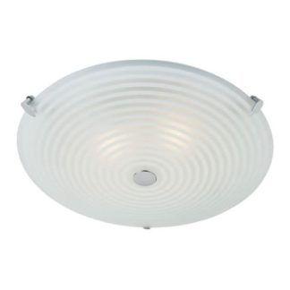 Lampa sufitowa Roundel - Endon Lighting - biała, szklana