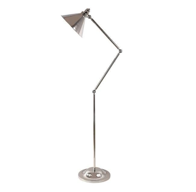 Prowansalska lampa podłogowa Lavender - chrom