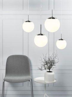 Lampa wisząca Cafe 15 - Nordlux - biała, szklana